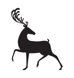 Deer black isolated elk vector