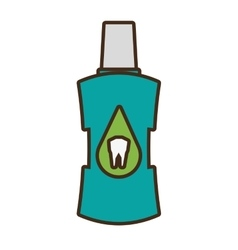 dental healthcare element isolated icon vector image