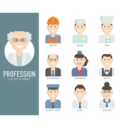 Different people professions characters set flat vector image