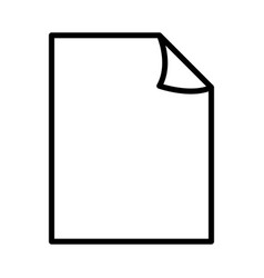 Document papers pile line icon outline sign vector