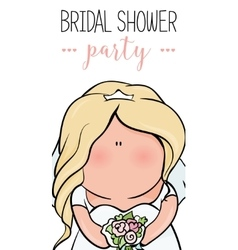 doodle character cute bride Romantic vector image
