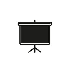 education board icon school chalk board drawing vector image