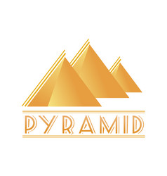 Egyptian pyramids logotype vector