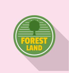 forest new land logo flat style vector image