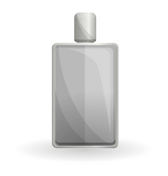 grey fragrance bottle icon cartoon style vector image