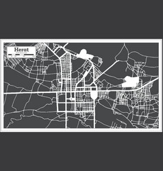 Herat afghanistan city map in black and white vector