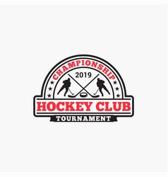 Hockey club badge logo-7 vector