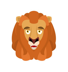 lion happy emoji avatar wild animal merry emotion vector image