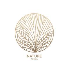 Logo flower with petals vector