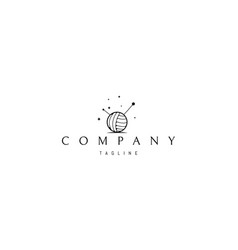logo on which an abstract image a ball vector image