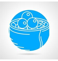 Maki sushi round icon vector