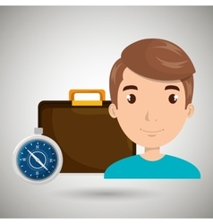 man bag compass travel vector image