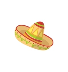 Mariachi Hat Mexican Culture Symbol vector image