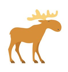Moose cartoon icon vector