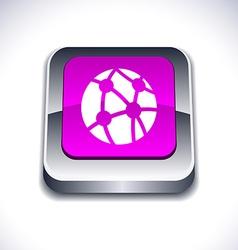 Network 3d button vector