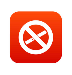 no smoking sign icon digital red vector image vector image