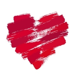 Painted Heart from Brush Strokes vector