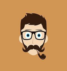 pipe smoker guy vector image