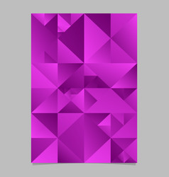 Polygonal violet triangle flyer - abstract purple vector