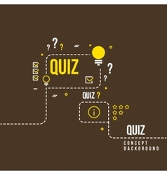 Quizzes school exam quiz abstract vector