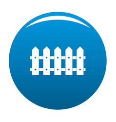 Rare fence icon blue vector