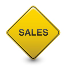 Sales warning vector