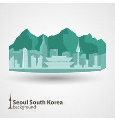 Seoul South Korea skyline vector