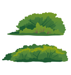 Set green bushes isolated vector
