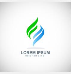 Shape loop ecology unusual logo vector