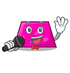 singing trapezoid mascot cartoon style vector image