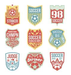 soccer emblems vector image