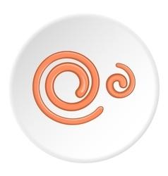 Spiral icon cartoon style vector