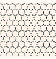subtle chain ornamental texture oriental style vector image