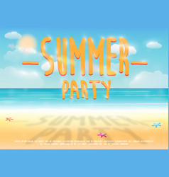 Summer party with sea sand beach background vector
