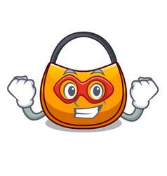 Super hero beautifully hobo bag on character funny vector