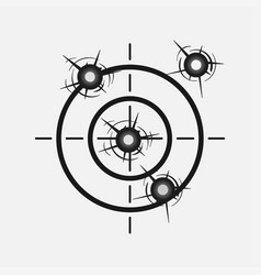 Target image with a shot hitting the vector