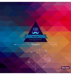 Triangle seamless background Retro label design vector