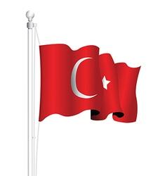 Turkey flag vector