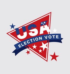 United stated america presidential election vot vector