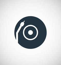 Vinyl turntable icon vector image