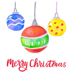 watercolor christmas background with christmas vector image