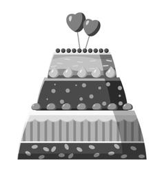 Wedding cake icon gray monochrome style vector
