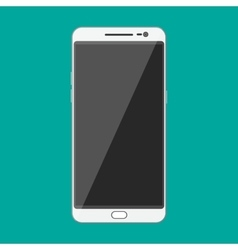 White modern touch screen smartphone vector image
