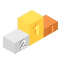 Winners podium isometric 3d icon vector image