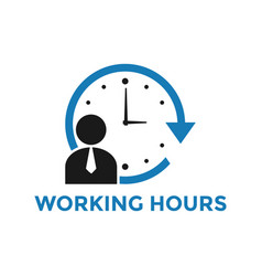 working hours icon design template isolated vector image
