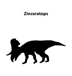 Zinceratops dinosaur silhouette vector image
