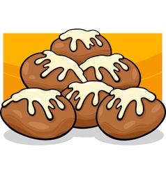 donuts clip art cartoon vector image vector image