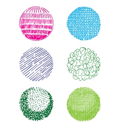 hand-drawn spheres vector image