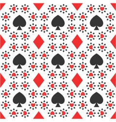 seamless pattern of card suits vector image