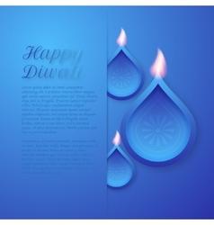 a happy Diwali day vector image vector image